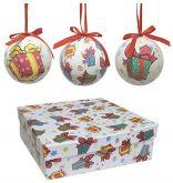 Bolas de Natal Decoupage I